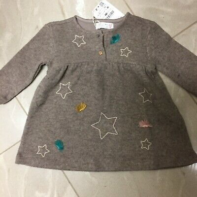 07c7d9a5d NWT ZARA BABY Girl Knitwear Gray Knit Sweater Jumper Dress Size 2-3 ...