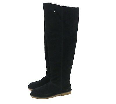 38b9e806fe8 UGG Australia LOMA OVER THE KNEE Black Tall Suede Boots 1095394 US 9 NEW!