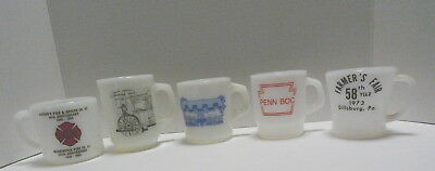 Advertising Mugs Galaxy, Termocrisa, Federal Anchor Hocking Fire King 5 from PA