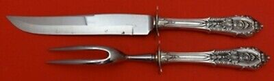 Rose Point by Wallace Sterling Silver Steak Carving Set 2pc