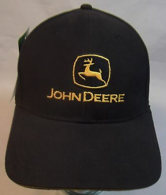 cdcfbc03f95 John Deere RDO Equipment Co. All Black Embroidered Adjustable Mens Cap Hat