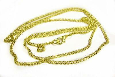 Wholesale 12 of 30 inch gold finish necklace chain