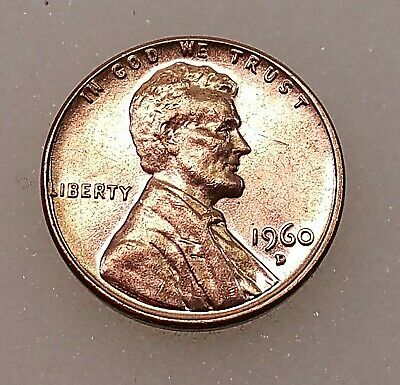 1960 D Penny. Lot of 2. Large Date and Small Date.
