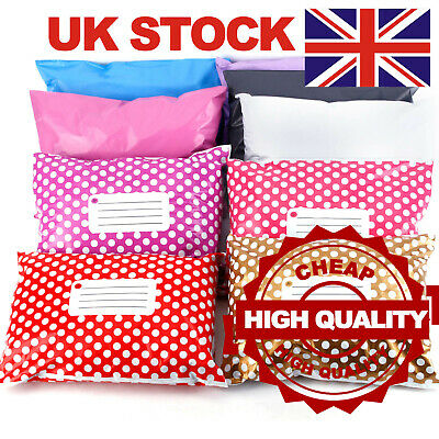 """Strong Large Postal Mailing Bags Sacks 9x12"""" *OFFER PRICE* Coloured Plastic"""