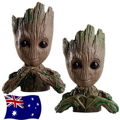 Guardians of The Galaxy Baby Groot planter Pen Flowerpot / Tree Man Baby Action#
