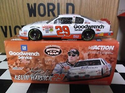 2001 Action Kevin Harvick #29 GM Goodwrench Service Plus Rookie of the Year 1:24