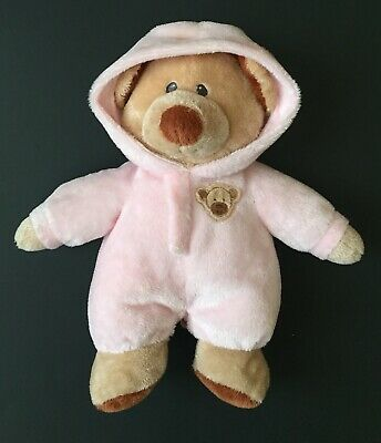 15c4794048f Ty Pluffies Teddy Bear Lovey In Pink Pajamas Stuffed Animal Plush Toy