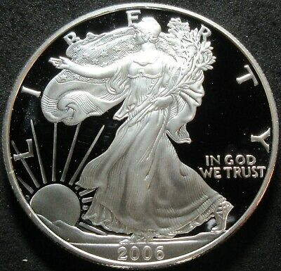 2006-W Proof American Eagle 1 Ounce Fine Silver Dollar Coin
