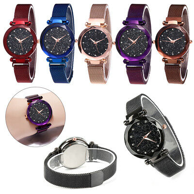 Starry Sky Watch Waterproof Magnet Stainless Steel Strap Buckle Women's Gift HL
