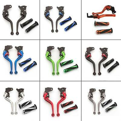 Adjustable Handle Grips Brake Clutch Levers Set For Yamaha YZF R1 R6 Motorcycle