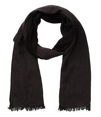8a826323caa John Varvatos Star USA Men s Scarf Ombre Solid Dual Face Merino Wool  Chocolate