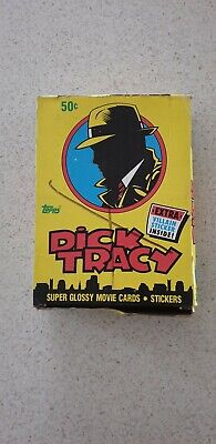 Dick Tracy old new sealed trading cards 1990 36x packs per box Topps