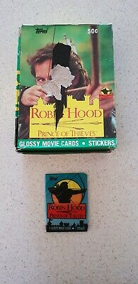 Robin hood old new sealed trading cards 1991 36x packs per box Topps