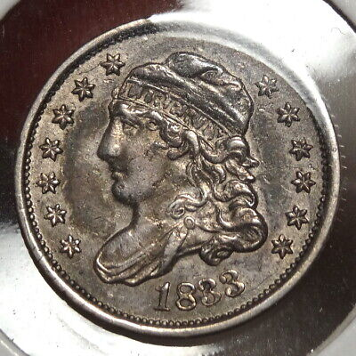 1833 Capped Bust Half Dime, Almost Uncirculated - Discounted   0218-06