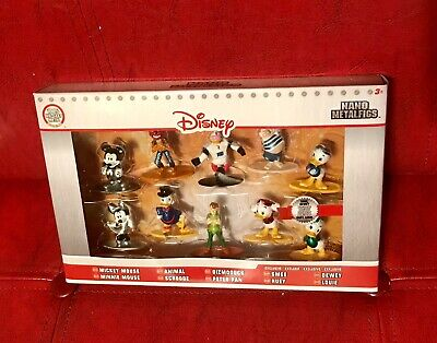 Mickey Mouse Minnie Peter Pan GizmoDuck EXCLUSIVE Disney 10 Figures Metal Statue