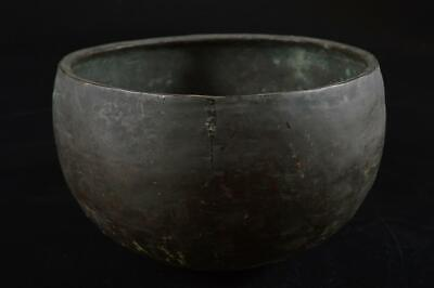 G7824: Japanese Old Copper BUDDHIST BELL Orin, Buddhist altar fittings