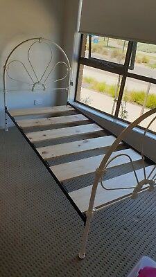 Cast iron single bed
