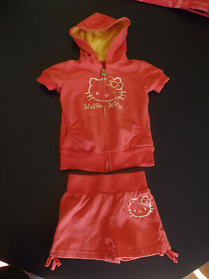 Hello Kitty Pink Hoodie and Shorts Sanrio 1976 2012 Size 5