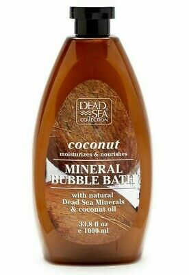 DEAD SEA COLLECTION Coconut Mineral Bubble Bath {Large 33.8 fluid ounce bottle}