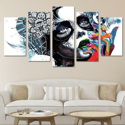 Dreaming Girl Canvas Wall Art Psychedelic Art Print Poster