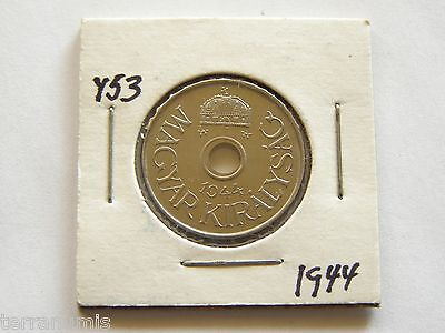 x476 HUNGARY 20 FILLER 1944 COIN Y#53 PROOF RESTRIKE