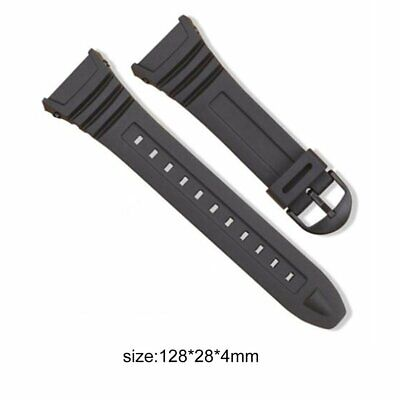 Silicone Watch Band Stainless Steel Pin Buckle Watchband for Casio W-96H LYEG