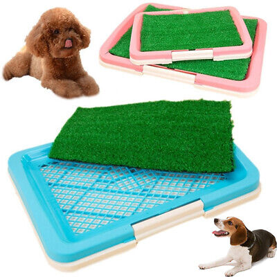 Puppy Potty Trainer Indoor Training Toilet Pet Dog Grass Pad Pee Mat Patch 2Size