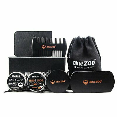 Black 2* Brush 2* Beard Wax 1 Brush*3 Beard Cream Pear Elm Bluezoo Care S H5