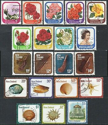 NEW ZEALAND 1975 Mixed category collection (complete except for 7c) used