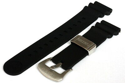 Divers 22mm Silicone strap for Seiko 6306/6309/7S26/7002 watches - Black