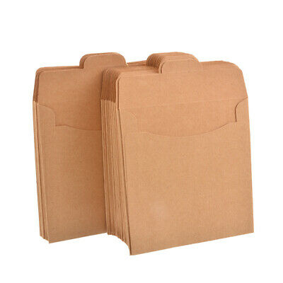 Reusable 50pcs Brown Kraft Paper Bags envelope bag Party Wrapping Supplies HA