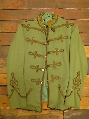 "Mens Military Wool Gothic Hussar Jacket Emo Steampunk Adam Ant Shabby 44"" Chest"