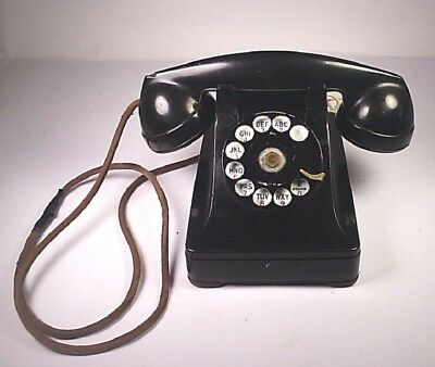 Vintage Bell System Western Electric F 1 Rotary Dial Telephone Untested