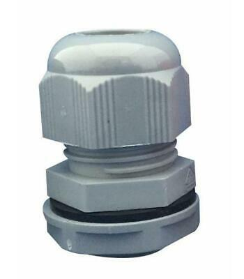 Nylon Cable Gland, M32, Grey (Pack of 10) - CONCORDIA TECHNOLOGIES
