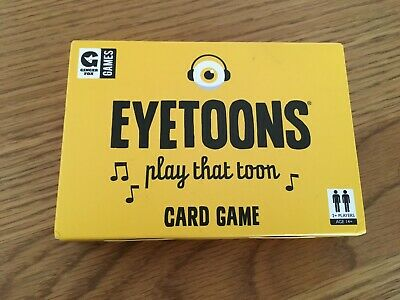 Eyetoons Card Game by Ginger Fox Party After Dinner Funny Name That Tune Gift