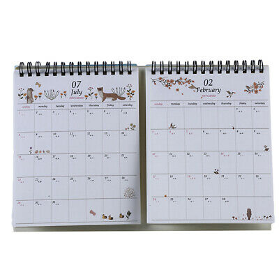Desktop Calendar Cartoon Printing Almanac Calendar Office Planner Stationery 8C