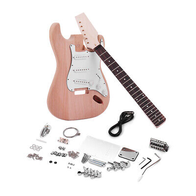 ST Style DIY Electric Guitar Kit Mahogany Body Rosewood Fingerboard Set Z8N7
