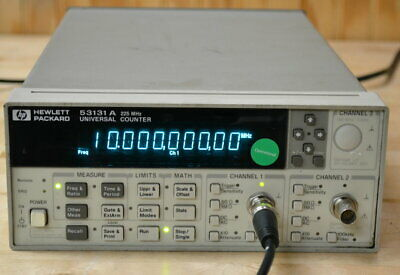 HP Agilent 53131A Universal Frequency Counter, 225MHz, opt 010 Timebase GOOD