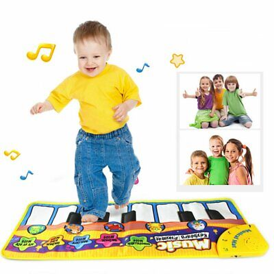 Kid Educational Musical Toys Musical Piano Play Mat with Lovely Animal Pattern E