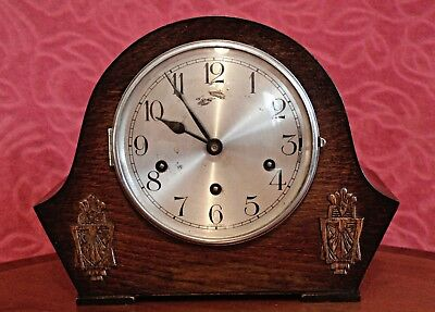 Vintage Art Deco German Mantel Clock with Westminster Chimes
