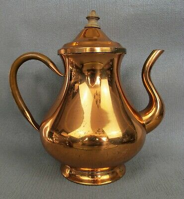 Vintage TAGUS R.95 copper COFFEE / HOT WATER POT / TEAPOT. Tin lined.