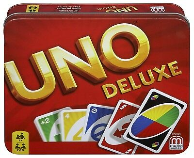 Original Uno Deluxe Card Game Cards Game in Gift Box New