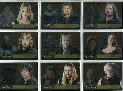 Lord Of The Rings Evolution Complete 20 Card Chase Set Evolution A
