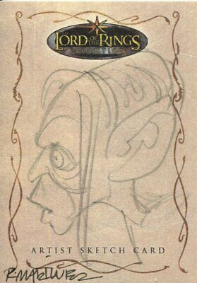 Lord Of The Rings Evolution Sketch Card By Randy Martinez