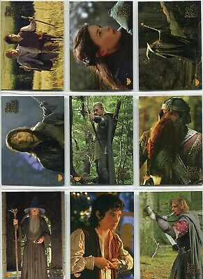 Lord Of The Rings Fellowship Of The Ring Complete 10 Card Sticker Set