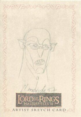 Lord Of The Rings Masterpieces 2 Sketch Card By Brent Woodside