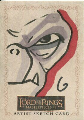 Lord Of The Rings Masterpieces 2 Sketch Card By Grant Gould