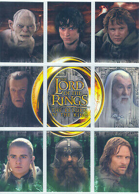Lord Of The Rings Return Of The King Update Complete 9 Card Binder Set