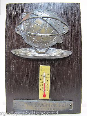 1964 1965 New York World's Fair Advertising Thermometer Unisphere USS NYWF