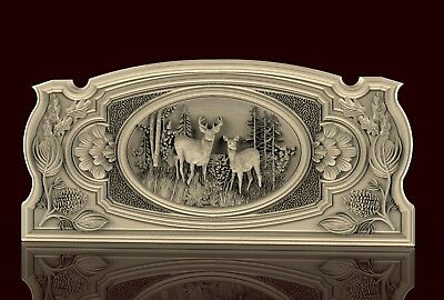 3d STL Model for CNC N023 (Hunting)_2pc Carving Machine Relief Artcam